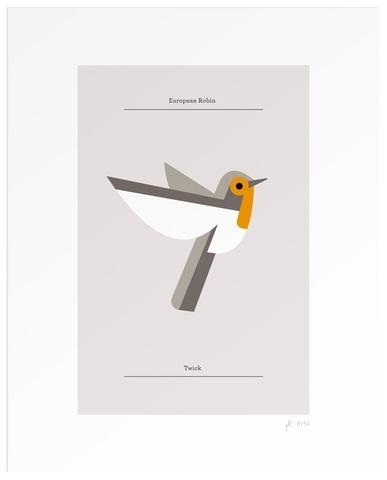 Lumadessa | European Robin - Silver (Dot Print)
