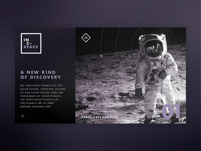IN2–SPACE Hero UI by STUDIOJQ #digital