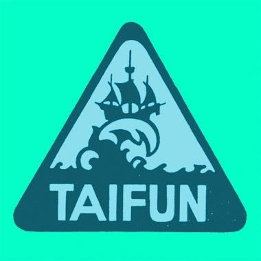 Draplin Design Co.: Taifun #emblem #wave #taifun #ship #logo