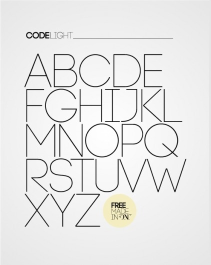 CODE free font on the Behance Network #typography