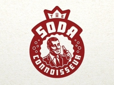 Dribbble - Soda Connoisseur by Jeffrey Devey #logo #illustration #soda #vintage