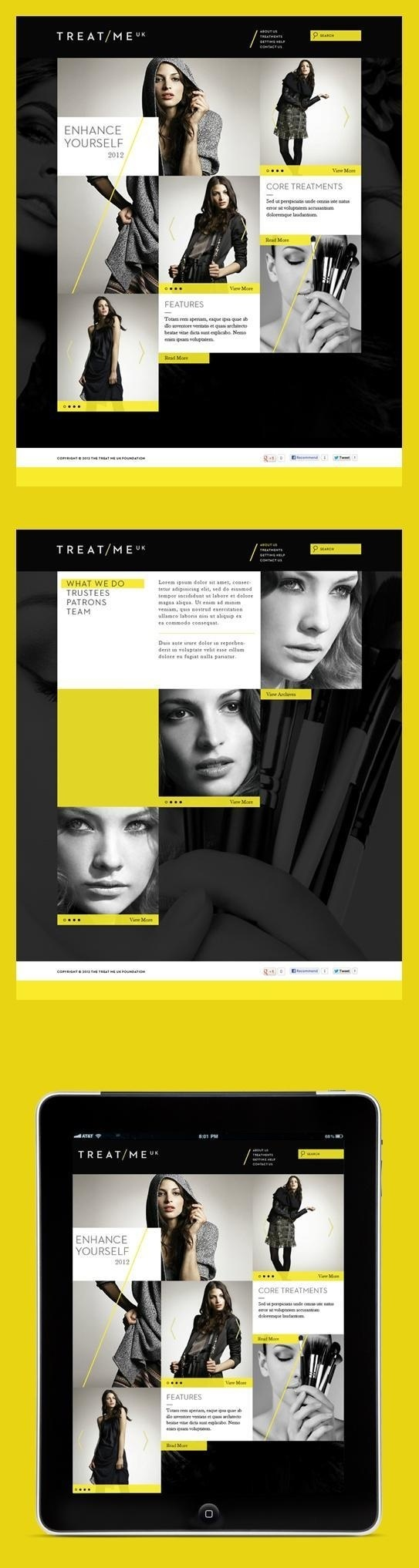 webdesign / Grid meets YELLOW. #yellow
