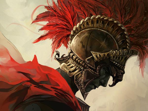 The Roman by *Alicechan on deviantART #rome #helmet #roman #soldier #digital #illustration #painting #art #warrior