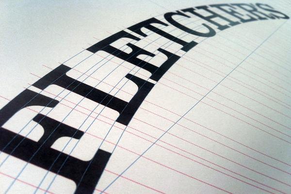 Fletcher's Brooklyn Barbecue #branding #barbecue #identity #fletchers #custom #logo #brooklyn #typography