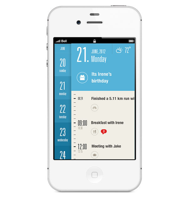 Showcase of Beautiful iPhone App UI Concept Designs #app #ux #ui