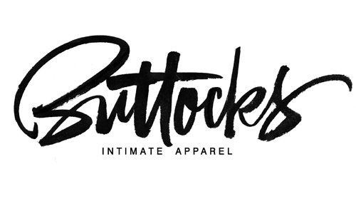 Buttocks, brush lettering logo. on Behance #calligraphy