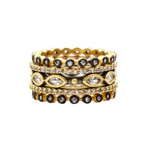 Signature Marquise Station 5-Stack – Freida Rothman | Price: $270.00 | Product details @ https://bit.ly/2KPiBPs. Buy now! #Rings #Jewelry #Fashion #FreidaRothman #NYC #NewYork #Brooklyn