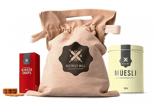 Markus Wreland Graphic Design » District Mill Bakery #bakery #branding #packaging #design #logo #package