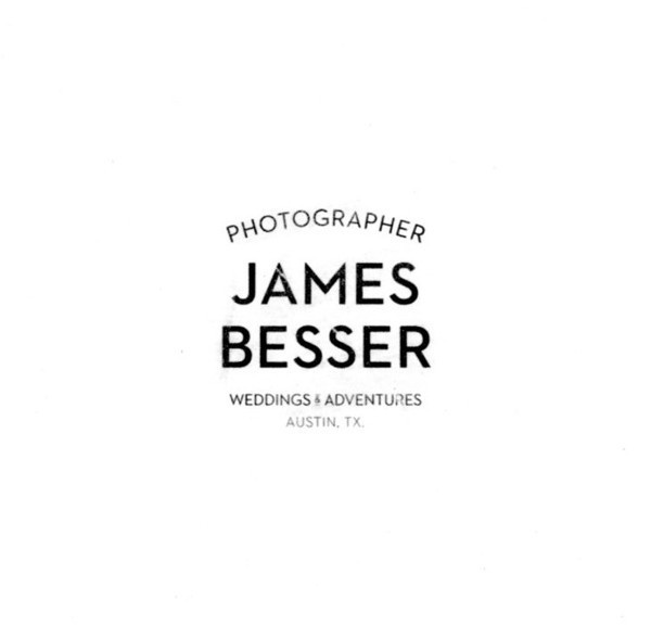 James Besser - Photographer #stamp #branding #rough #brand #identity #logo #typography