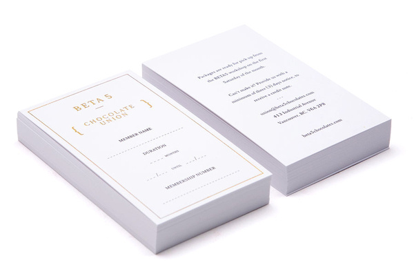 Beta 5 Chocolates by Glasfurd and Walker #card #identity #bussines