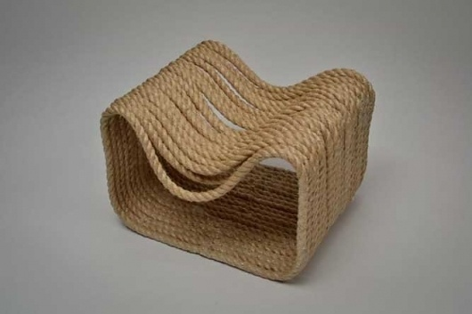 Chair Made From 80 Metres of Rope [6 images and sketches] #chair #furniture