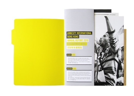 Amnesty International Hong Kong Annual Report 2010 on the Behance Network #inspiration #yellow #design #photography #editorial #typography