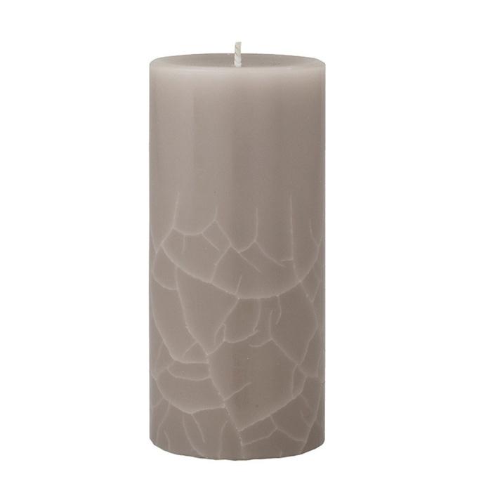 Crackle pillar Creamy Vanilla & Coconut Scented Candle, 15 x 7 cm