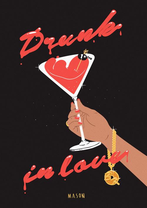 Mason London - Drunk in Love #illustration #beyonce