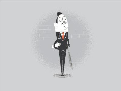 A gentleman never tells #man #design #character #vintage