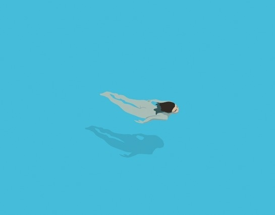 Swimmer #vector #water #girl #nude #swimming