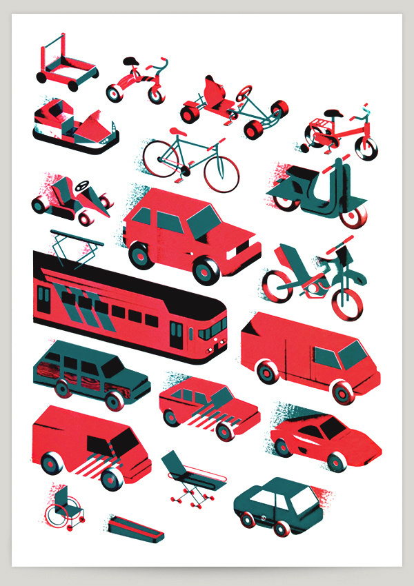 Race to Death on Behance #bikes #illustration #cars #icons