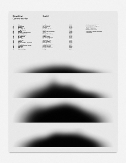All sizes | Poster for Downtown Communication — Cuatro | Flickr - Photo Sharing! #white #design #graphic #black #poster #and #communication #typography