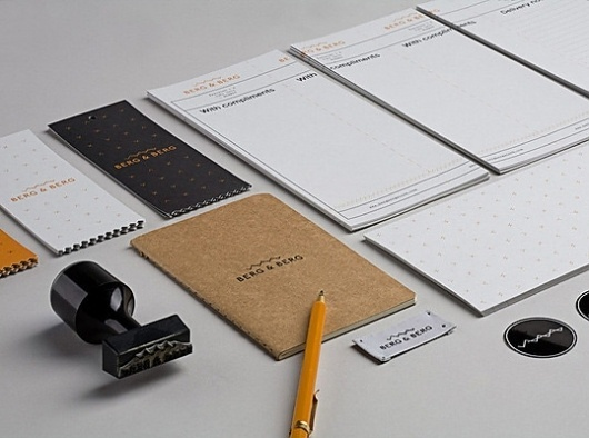 Berg & Berg : Lovely Stationery . Curating the very best of stationery design #white #orange #black #collateral #logo