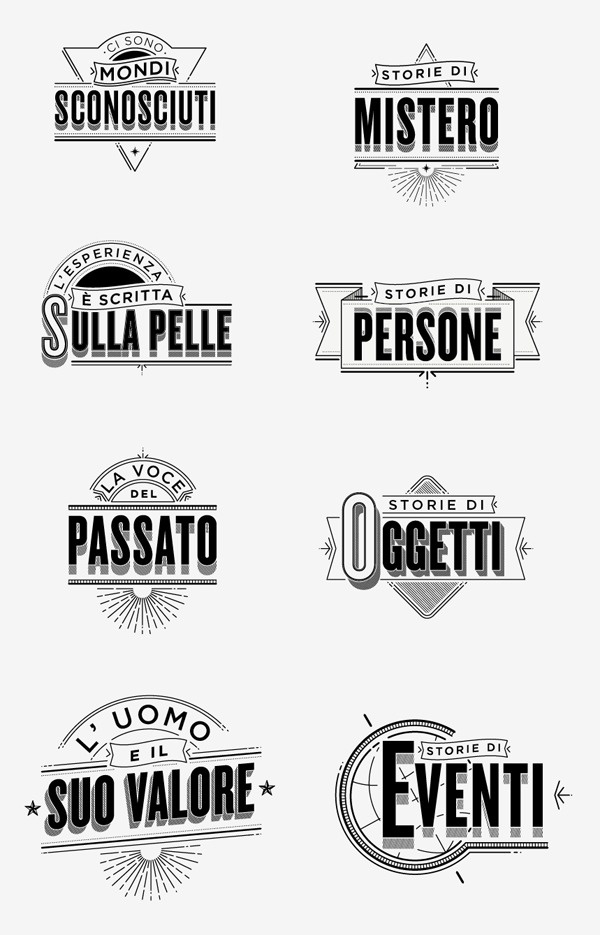 Typographic ID's History Channel on the Behance Network #typography #type #logo