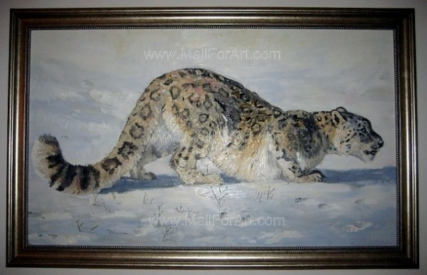 A different interpretation of realistic art - Angel Ivanov's paintings #leopard #animaln #snow #portrait #painting #paintings #art #animal #oil