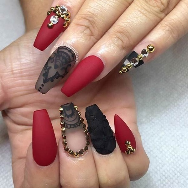 Best Nail Art 35 Maroon Nails images on Designspiration