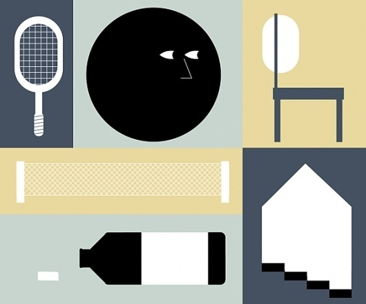 PLAY WITH LINE AND SHAPE on the Behance Network #illustration