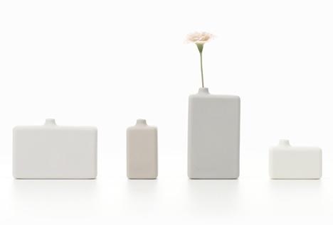 Dezeen » Blog Archive » 1% products by Nendo #interior #vase #accessoiries #design #porcelain #furniture