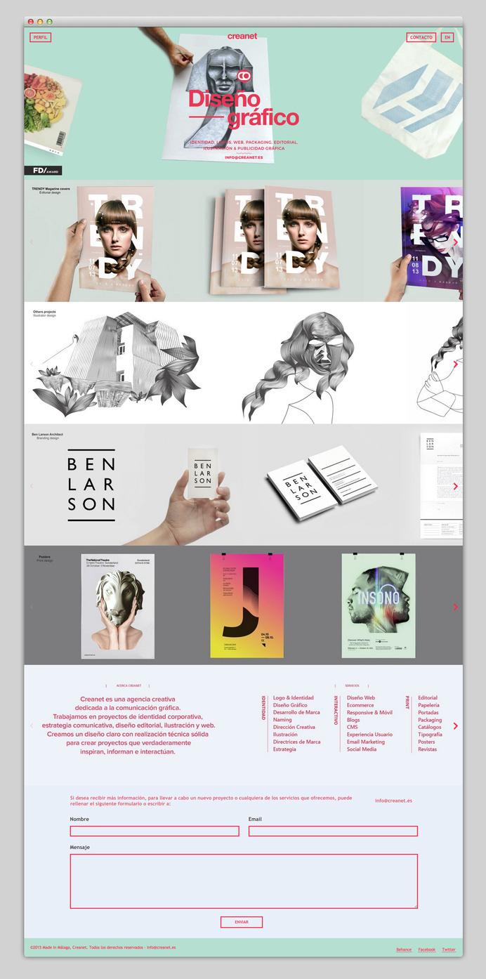 Most beautiful websites collection – www.mindsparklemag.com