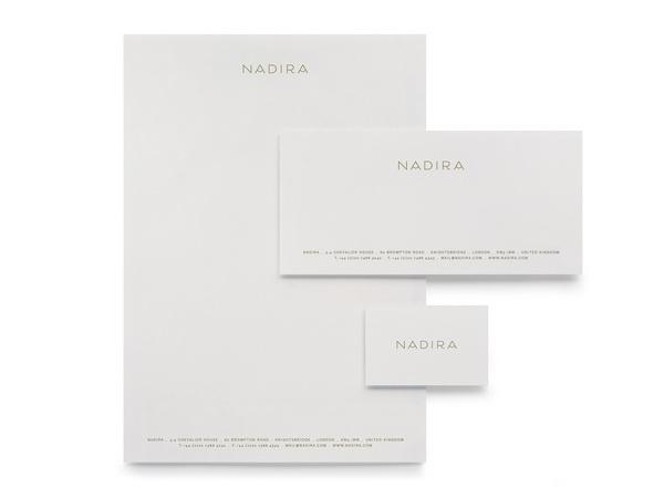 Nadira Burgess Studio #stamp #business #card #print #head #letter #stationery #foil