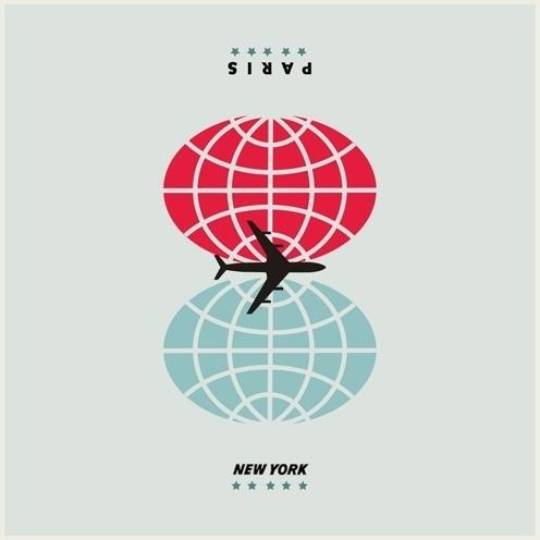 cristiana couceiro #globe #design #graphic #plane #typography