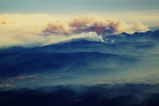 All sizes | Big fire south of Big Sur, California | Flickr - Photo Sharing! #smoke #big #landscape #rskoon #photography #fire #sur #mountains #california