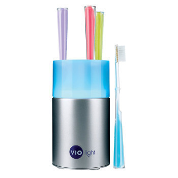 UV Toothbrush sanitizer kills up to 99.99% of germs using a powerful germicidal UV bulb. #uv #bulb #design #toothbrush #product #industrial #sanitizer