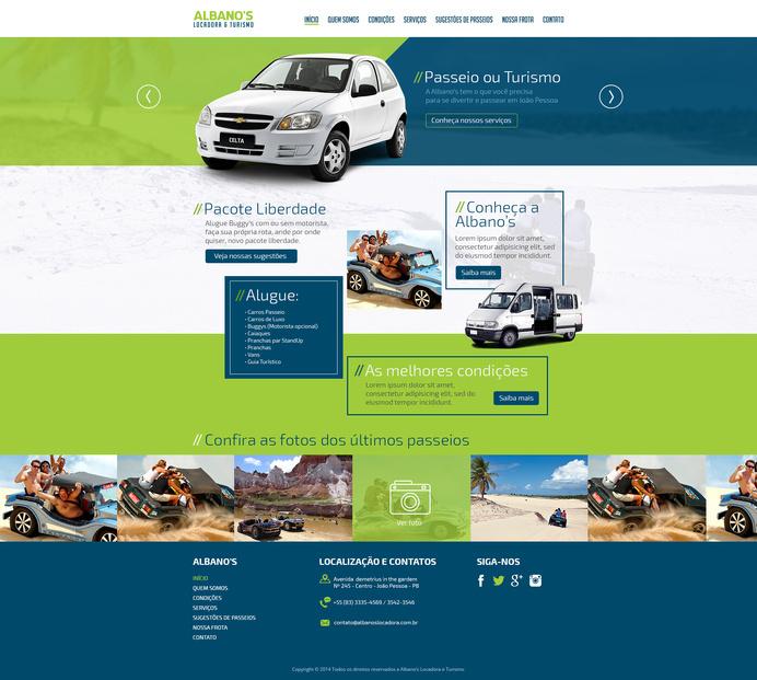 Lay_albanos_locadora #design #interface #webdesign #uidesign #web