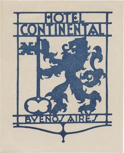 All sizes | Hotel Continental, Buenos Aires (136mm x 111mm) | Flickr - Photo Sharing! #buenos #hotel #logo #continental #aires