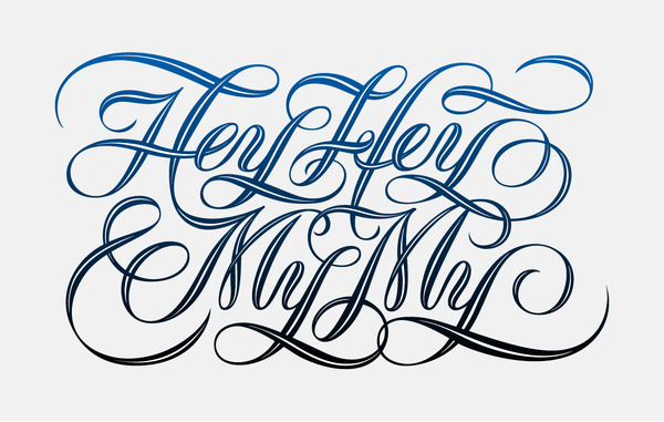 Rock and roll can never die? Hey Hey My My by Jess Wong #lettering #line #in #wong #jess #inline