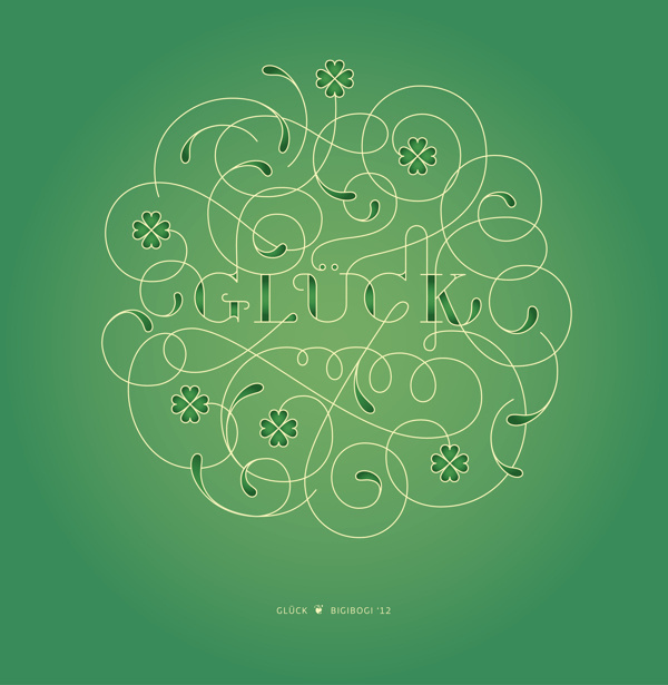 gluck #type #luck #lettering #typography