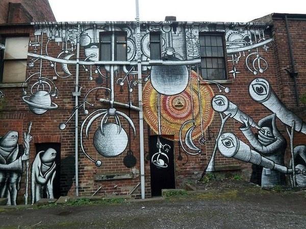 Surreal illustrations in street art #abstract #surrealism #art #street #surreal