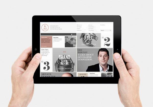 KAE — Strategic Marketing on Behance #ipad #web