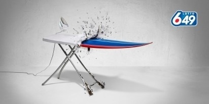 I Believe in Advertising | ONLY SELECTED ADVERTISING | Advertising Blog & Community » Lotto 649: Shoe, Ironing Board, Chair #advertising