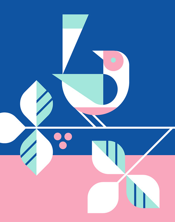 EHD, eight hour day, Minneapolis, design, illustration, facebook, geometry