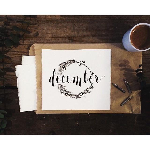 Tumblr #calligraphy #photo #pen #december #branches