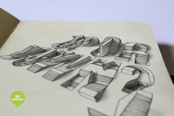 3D Typography by Lex Wilson 4 #illustration #typography