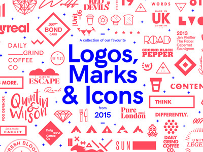 A collection of our favourite Logos, Marks & Icons created by Studio–JQ in 2015. View the full collection here Follow Studio–JQ #illu