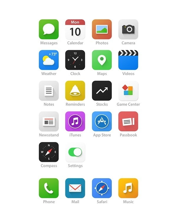 iOS 7 Redesign on Behance #icons