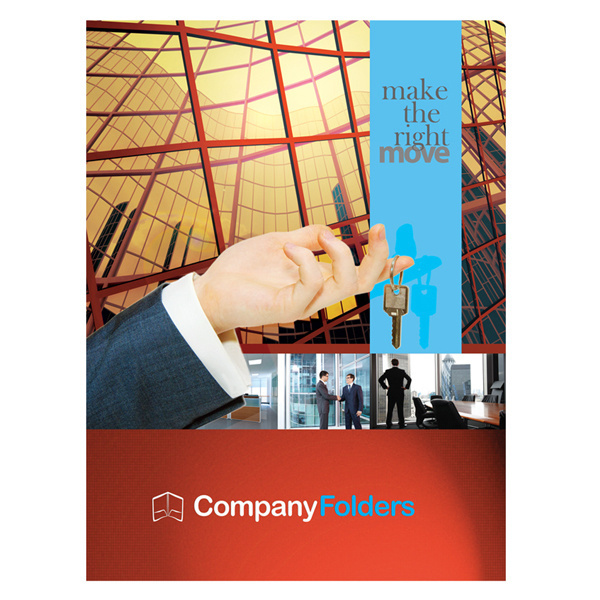 Corporate Offices Real Estate Folder Template (Front View) #psd #design #presentation #corporate #template #folder