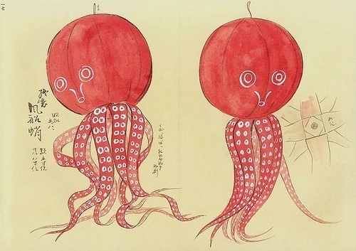 All sizes | halloweenesque octopus | Flickr - Photo Sharing! #toy #illustration #japan