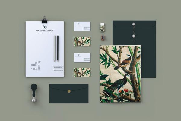 The Secret Garden #business #branding #card #design #identity #envelope #stationery #letterhead #emerald