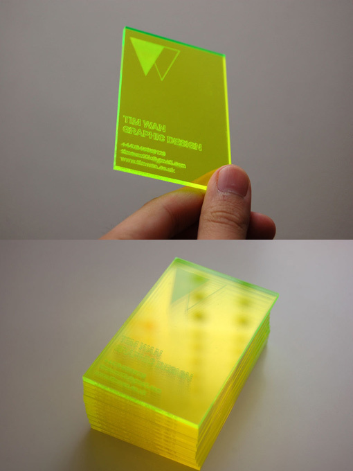 Laser Cut Business Card #acrylic #cut #business #card #laser #personal