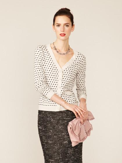 RED Valentino Cashmere Polka Dot Pocket Cardigan #fall #autumn #sweater #fashion #cardigan